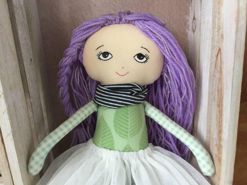 ZEALOUS DESIGN HEIRLOOM VINTAGE DOLL - Lavender sparkle ***SALE***