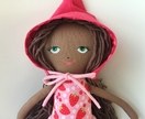 ZEALOUS DESIGN HEIRLOOM VINTAGE DOLL - strawberry beauty