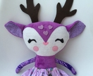 ZEALOUS DESIGN DRESS-UP DOLL - Purple Deer