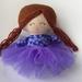 ZEALOUS DESIGN TINY TOT DOLL ~ Purple cutie