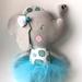 ZEALOUS DESIGN DRESS UP SOFTIE - Elephant in blue