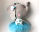 ZEALOUS DESIGN DRESS UP SOFTIE - Elephant in blue
