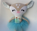 ZEALOUS DESIGN DRESS-UP DOLL - Blue Wandering Deer