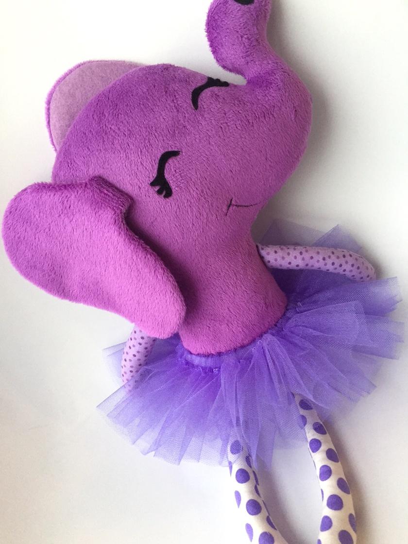 ZEALOUS DESIGN DRESS UP SOFTIE - Elephant in purple