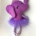 ZEALOUS DESIGN DRESS UP SOFTIE - Elephant in purple