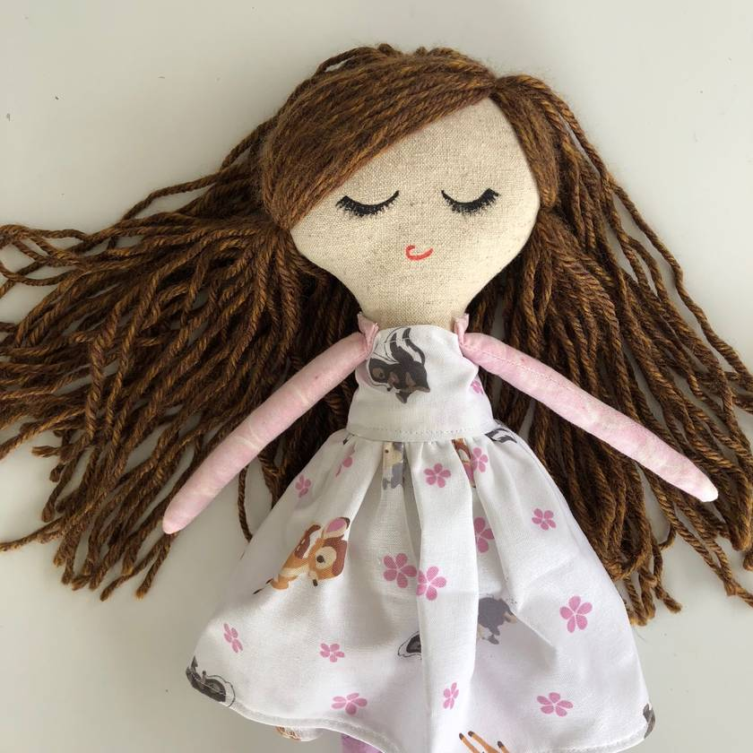 ZEALOUS DESIGN SMALL HEIRLOOM DOLL - Sleepy deer girl