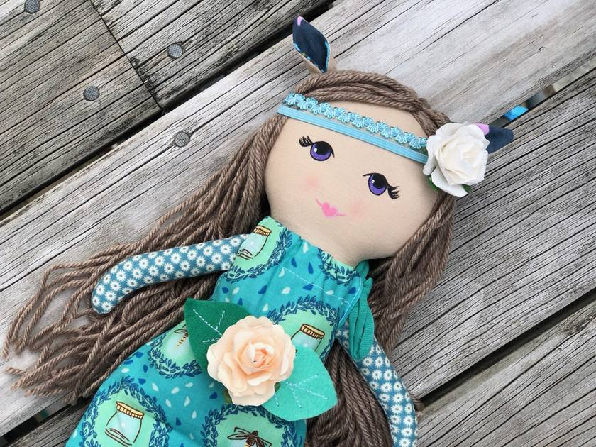 ZEALOUS DESIGN PIXIE DOLL - Violet Rose