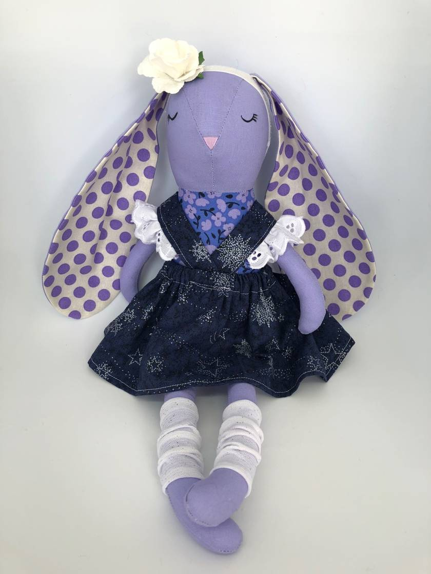 SALE **** BUNNY - Pansy Purple