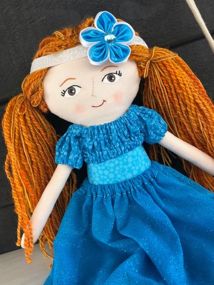 Handcrafted Heirloom Doll - Azure