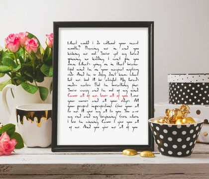 all of me loves all of you john legend nursery wall