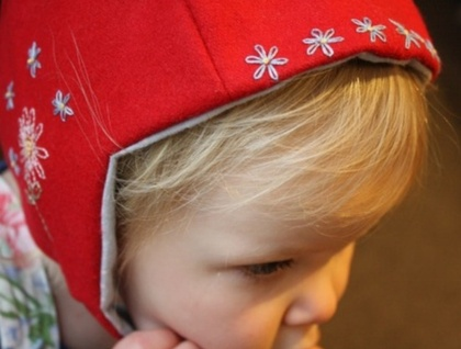 Pressed Wool Embroidered Hat