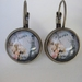 Antique Brass French Hanging Earrings - Paris Series