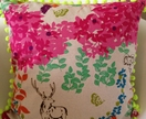 Neon Woodland Cushion Covers