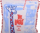 The Longest Drink in Town Giraffe Cushion