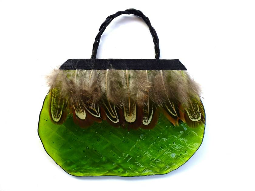 Glass Kete - Small Green