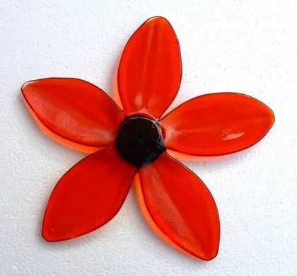 Funky Glass Daisy - Red