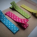 Colourful set of 4 polka dot hairclips