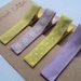 Lilac and yellow set of 4 hairclips