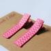 Pink and white chevron print hairclips