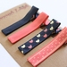 Navy and coral set of 4 hairclips