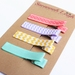 Purple, yellow, turquoise and pink set of 4 hairclips