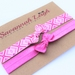 Candy pink geometric print bow knot baby headbands set of two