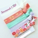 Turquoise lilac and orange floral knotted hair ties