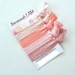 Peach and pink glitter set of 5 knotted hair ties