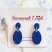 Electric Blue Glitter Resin Earrings