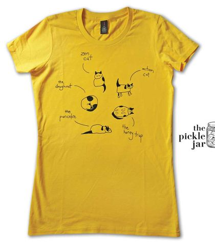 Cat of many Postures Women's T-shirt (M)