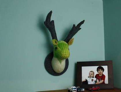 Envy Buck,  Wall  Hanging, Faux Taxidermy