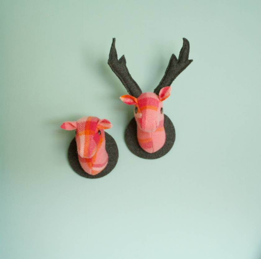 Stag Wall Hanging, Porange