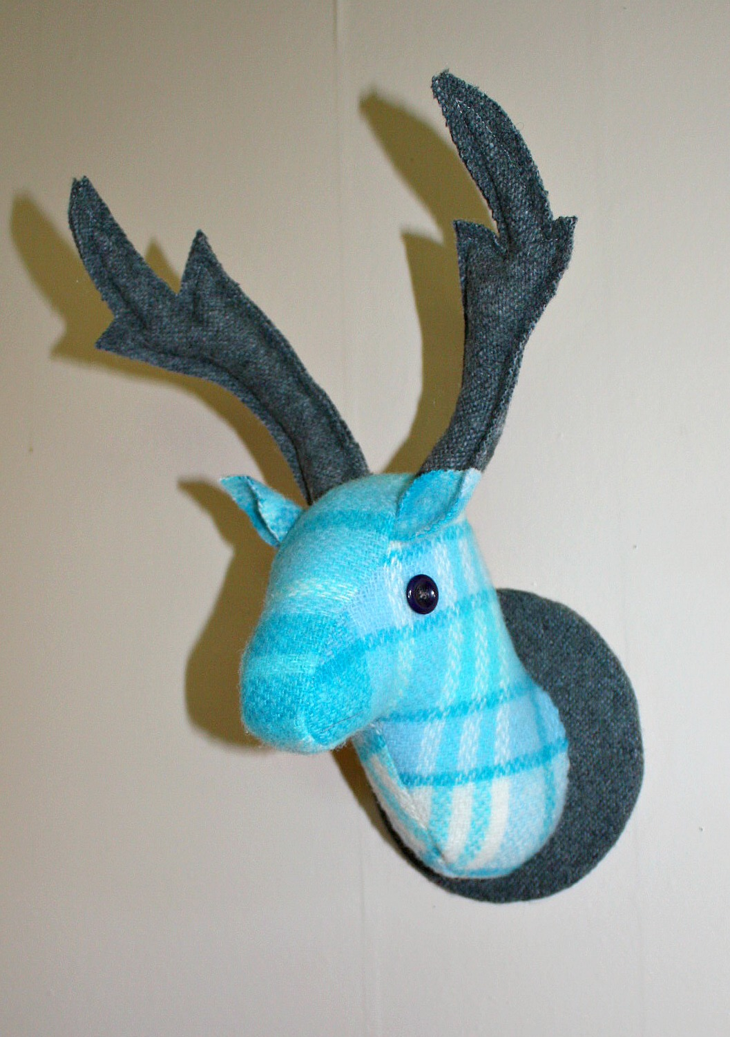 Stag Head Wall Hanging Faketaxidermy Frozen Colours Felt