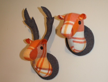 Stag and Doe Head  Wall Hangings, Mr & Mrs Pumpkin Spice.