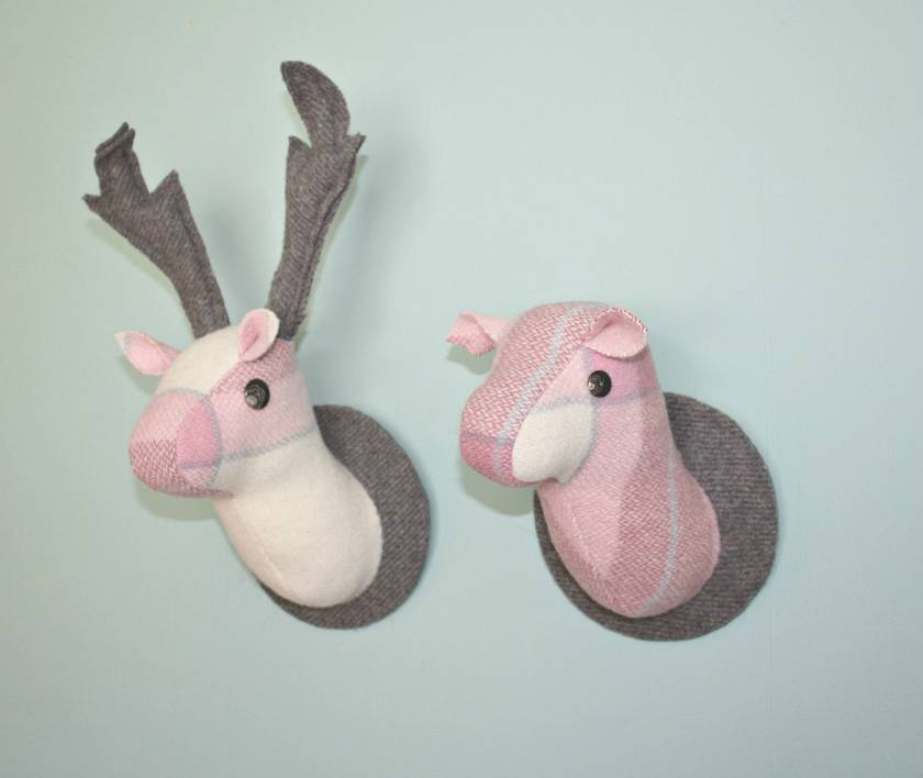 Mr Rosy, Mounted Stag Wall Hanging, Faux Taxidermy