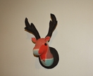 Stag Wall Mounted Hanging, Faux Taxidermy, Mr Coral