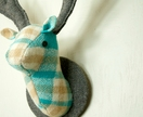 Stag Wall Mounted Hanging, Turquoise and Brown