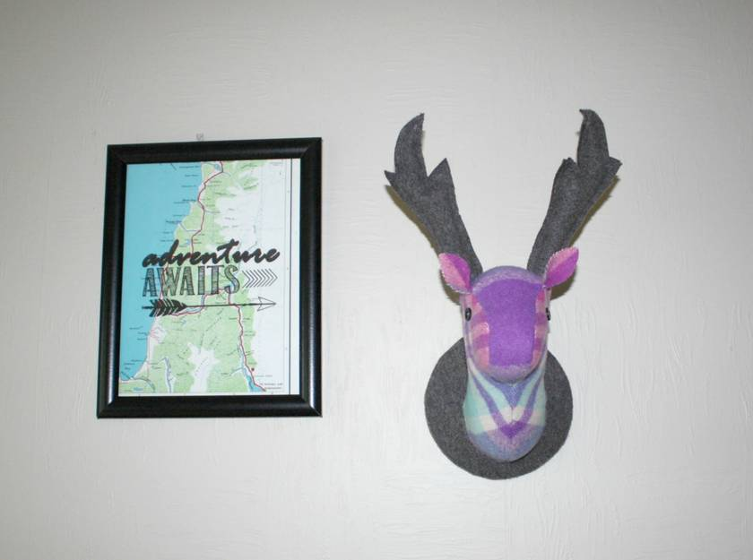 Stag Head Wall Hanging,Titanium