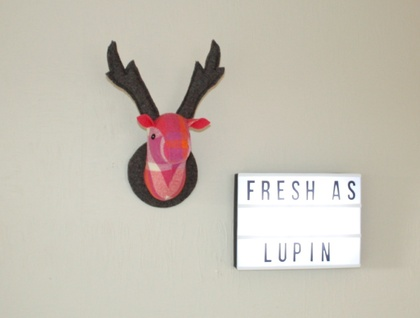 Stag Head  Wall Hanging, Lupin.