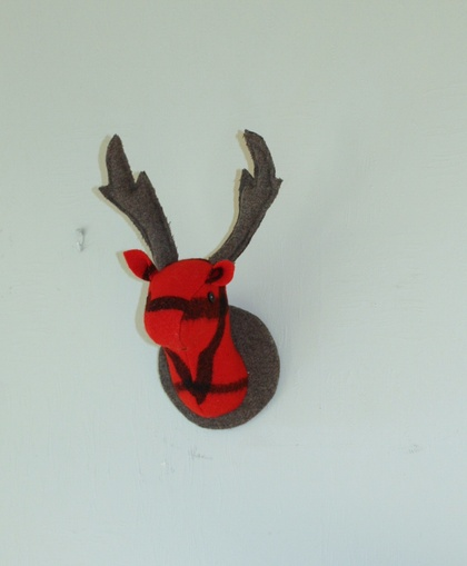 Stag Wall Hanging, So Red