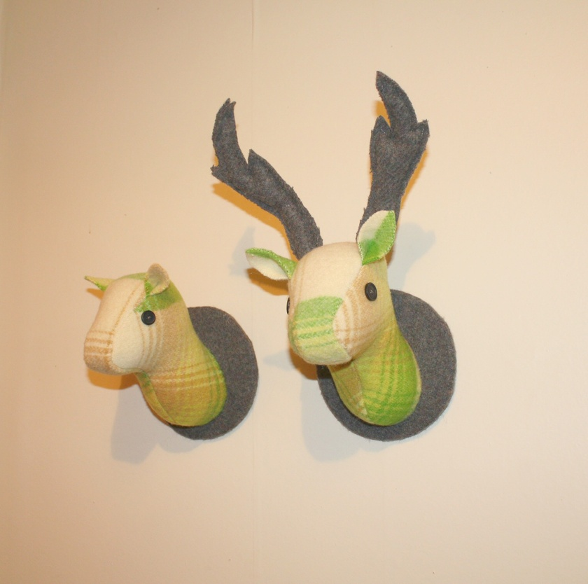 Stag and Doe Head  Wall Hangings, Mr & Mrs Envy.