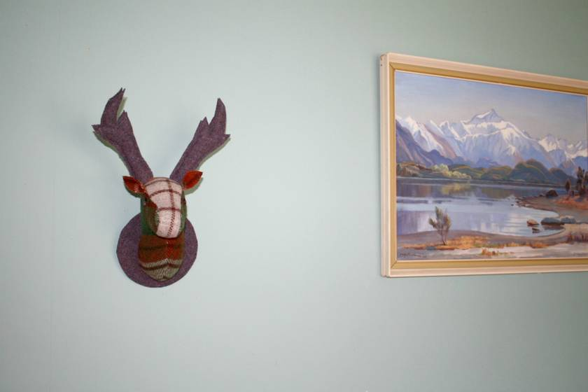 Stag Head Wall Hanging, Moss.