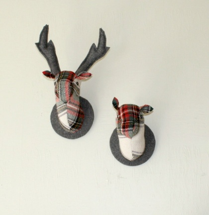 Stag and Doe Head  Wall Hangings, Mr & Mrs Porridge.