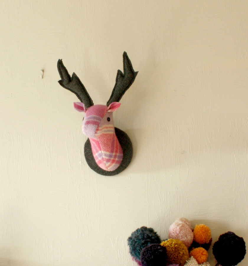 Stag Wall Hanging, Spring Flowers