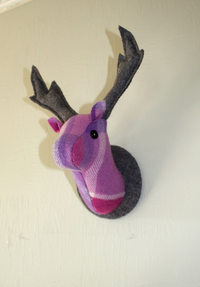 Stag Wall Hanging, Perfectly Purple