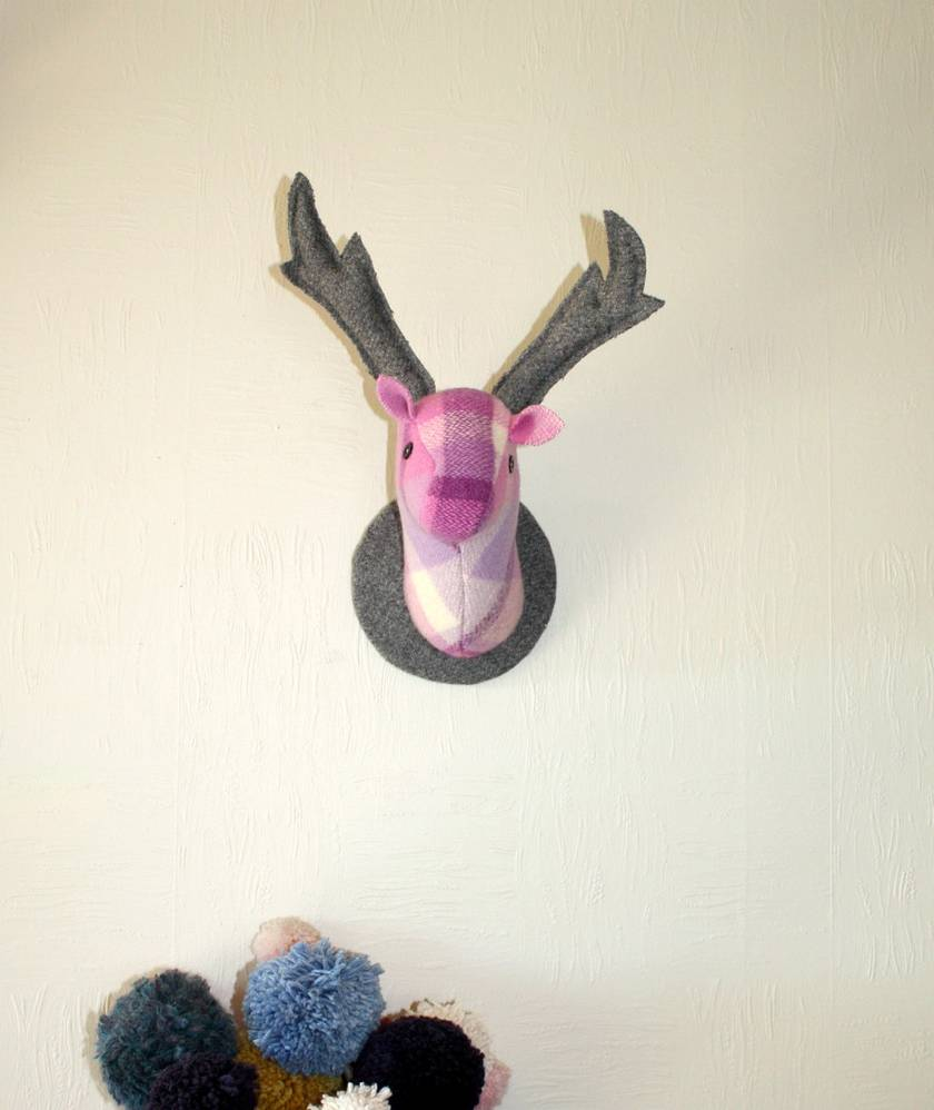 Stag and Doe Head  Wall Hangings, Mr & Mrs Viola