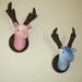 Sugar & Spice, a Pair of Stags Wall Hangings.