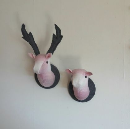 Stag and Doe Head  Wall Hangings, Mr & Mrs Sugar