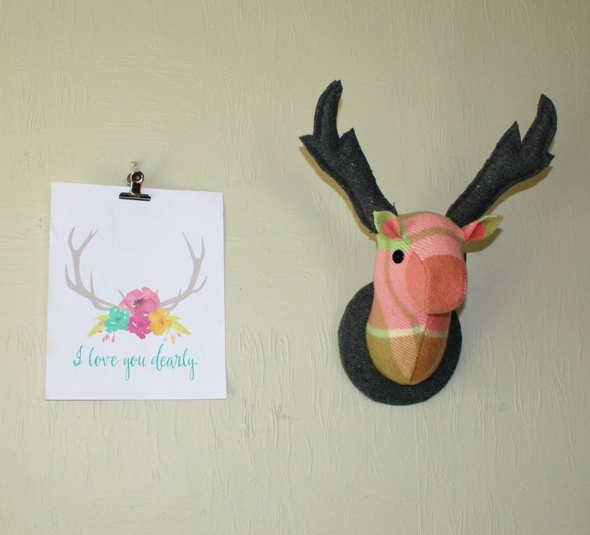 Stag Head Wall Hanging, Blossom