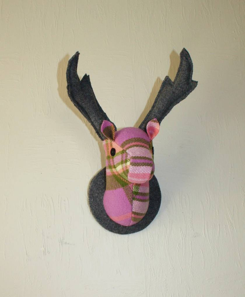 Stag Head Wall Hanging,Clover